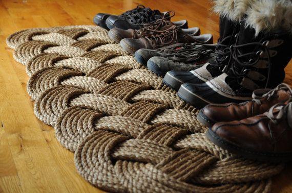 Prolong Rope Rug Nautical Rope Mat Patio Door Rug by OYKNOT