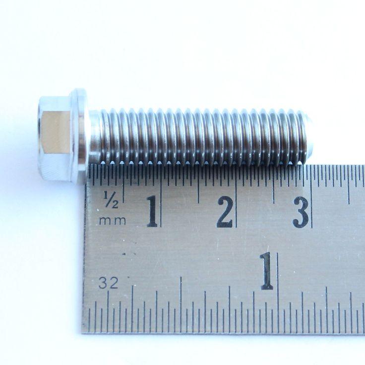 TITANIUM M8 X 30mm hex flange bolt. Half the weight.  No:0025080306