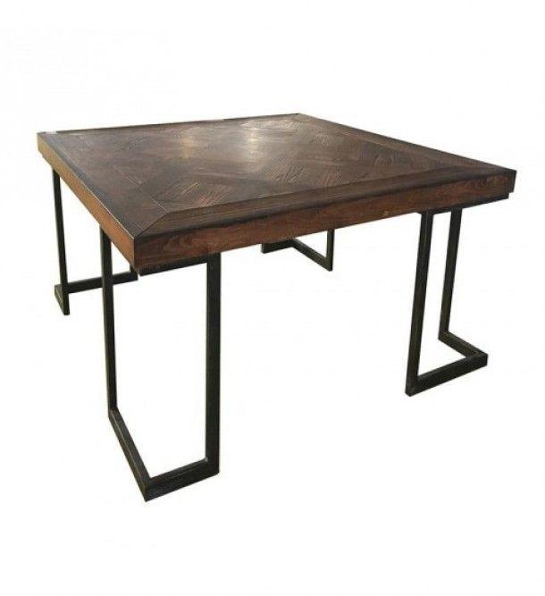 Τραπέζι Ξύλινο Μεταλλικό inart 3-50-586-0017  Τραπέζι σαλονιού μεταλλικό από την inart - Διαστάσεις : 80x80x45εκ.