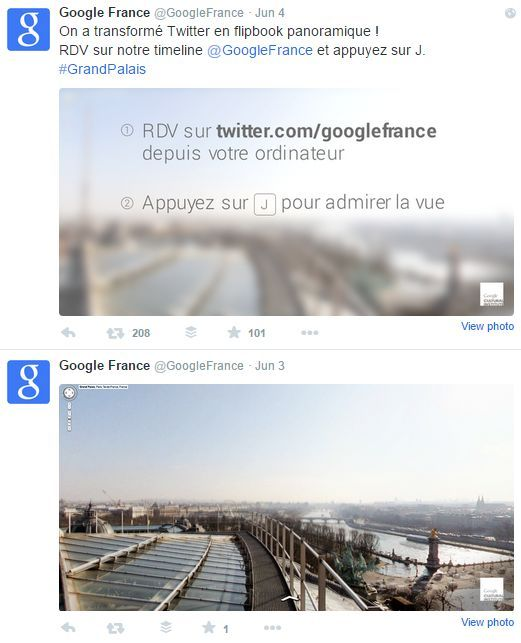 Google France's Twitter Account Doubles as an Interactive Social Media Flip Book #travel trendhunter.com