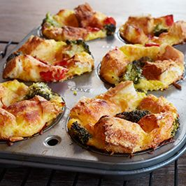 Mini Muffin Tin Stratas. Perfect for Christmas morning!