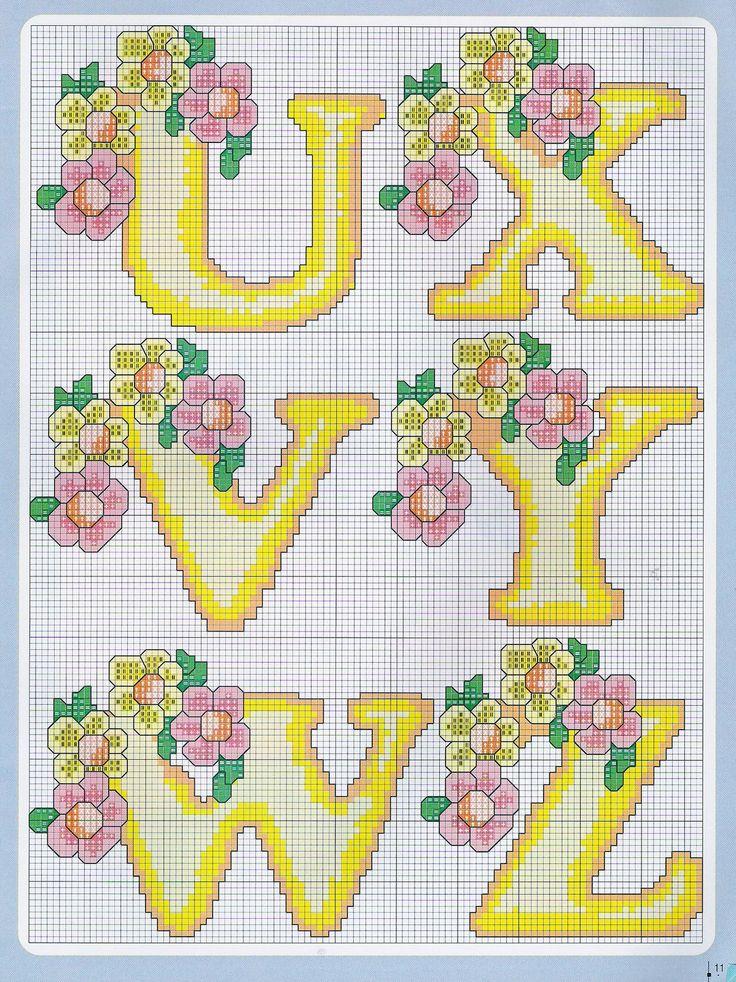 Sandrinha Ponto Cruz: Alfabeto floral