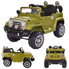 12V MP3 Battery Power Wheels Jeep Car Truck Remote Kids Ride W/ LED Lights Green