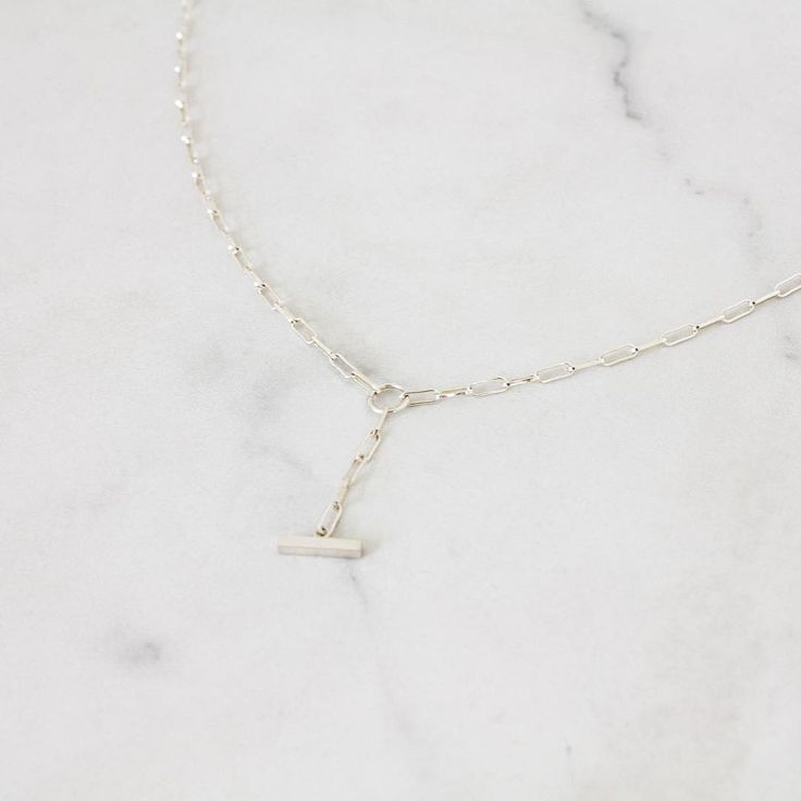 Keeping it simple ❤️👌  Sterling Silver Fob Necklace⠀