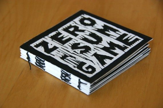 Zero Sum Game hand printed and bound art by GreenBalloon on Etsy