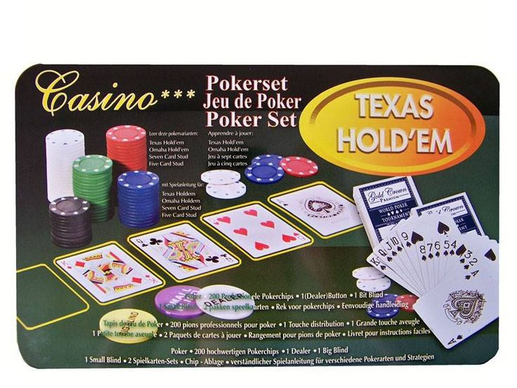 Pokerset incl. 200 Chips
