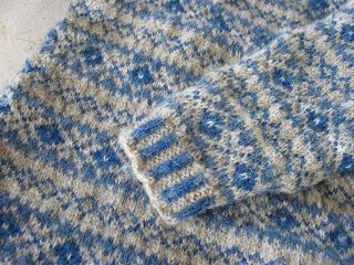 "When I was little, part of the daily ""uniform"" usually consisted of some sort of woolly jumper, often fair isle and usually hand knitted by ..."
