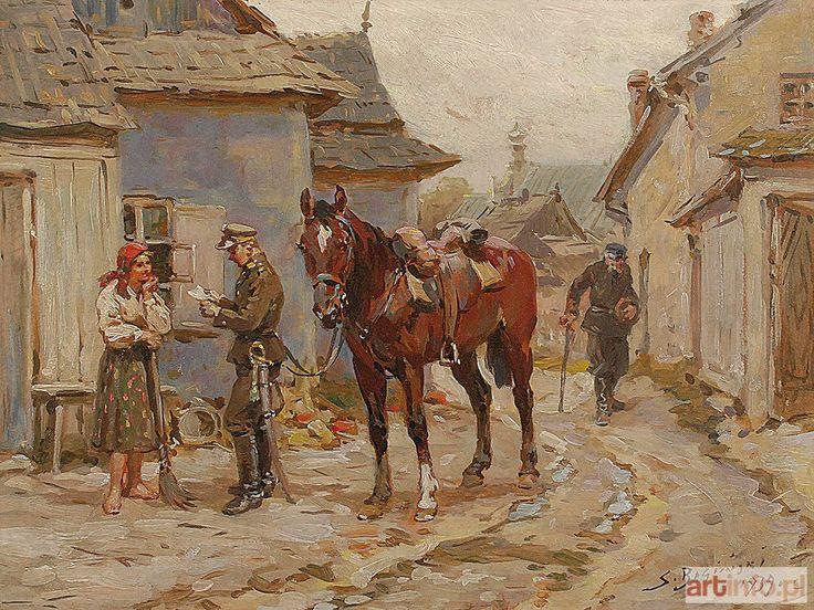 Aukcja katalogowa, 226 Aukcja Dzieł Sztuki i Antyków, Stanisław BAGIEŃSKI, Ułan i dziewczyna, 1939