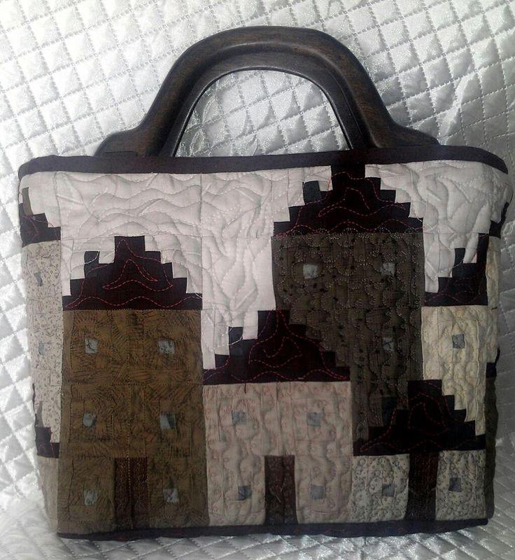 小木屋提袋A面 Log Cabin Bag--Side A