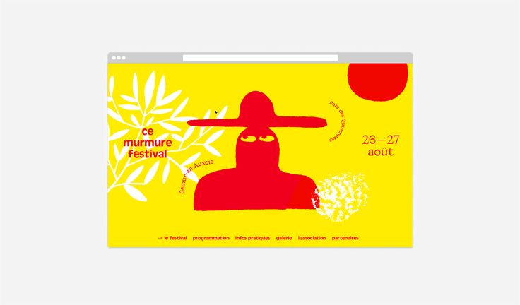 """Check out this @Behance project: """"Ce murmure festival"""" https://www.behance.net/gallery/43509681/Ce-murmure-festival"""