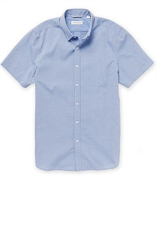 Smart-casual shortsleeved shirt - http://www.trenery.com.au/shop/menswear/clothing/shirts--casual/fine-indigo-barre-striped-shirt-60188604 $NZD109