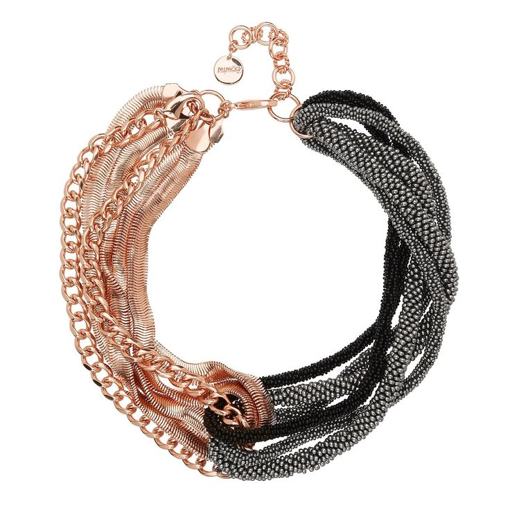 Poseidon black & rose gold Mimco necklace
