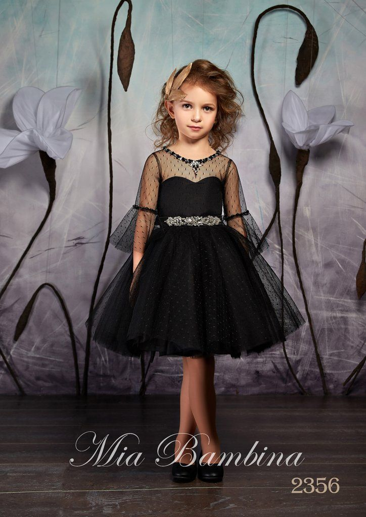 Flower <b>Girl</b> Dresses Little <b>Girls</b> Elegant <b>Black</b> Tulle <b>Tutu Dress</b> with ...
