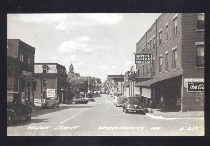 WARRENSBURG MISSOURI DOWNTOWN HOLDEN STREET Looking North ca1940