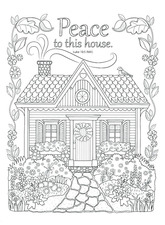 Coloring Pages Houses Beach House Coloring Pages In 2020