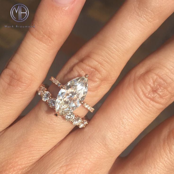 marquise diamond engagement ring wedding - Marquise Diamond Wedding Ring