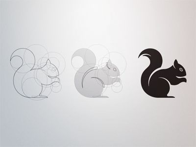 Squirrel Construct by fraser davidson, Amazing! The squirrel is made up of nothing but circles!