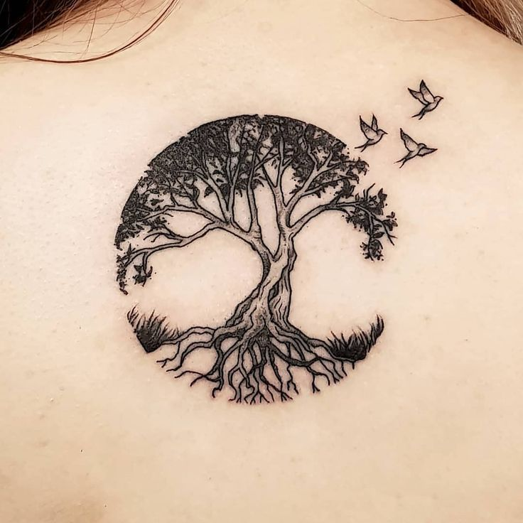 Tree Tattoo – Tree of Life for Rachel's first tattoo. #Tattoo #Black work #Lineta