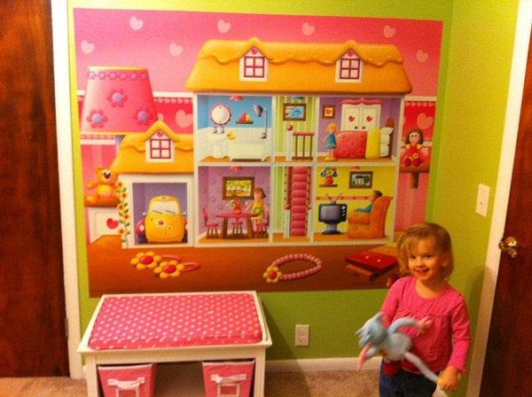 Playhouse mural by Jessica H Waterford, MI #girls #room #home