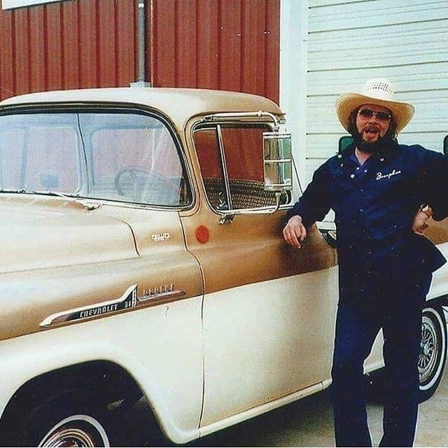 Hank Jr With His Truck In Mid 1980s.