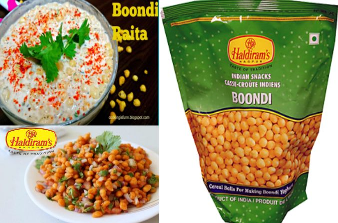 Haldiram Special Boondi which is very crispy and useful to make raita tasty or boondi chat as well.So must try the haldiram boondi for make more tasty food .
