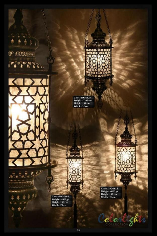 Decorative Brass Glass Candle Lights Mosaic Lamps Ottoman Middle Eastern Lamp Chandelier