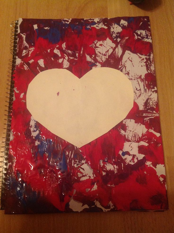 Easy diy spring and summer tie-dye notebook