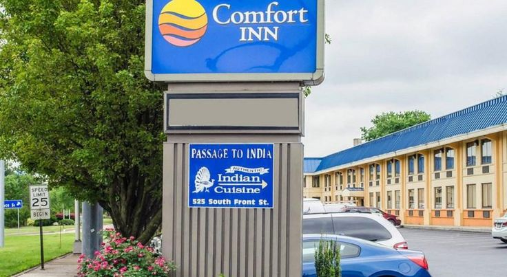 Comfort Inn Riverfront Harrisburg This Harrisburg hotel is next to the Susquehanna River and within walking distance of the Pennsylvania Capitol Complex. The hotel is completely non-smoking and offers free Wi-Fi.