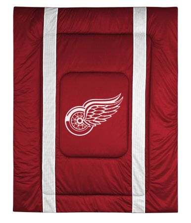 Detroit Red Wings Sidelines Comforter, starting at  $79.95 at MySportsDecor.com. Great for your bedroom, a kid's bedroom, or a dorm room. http://www.mysportsdecor.com/detroit-red-wings-sidelines-comforter.html... #detroitredwings #detroitredwingsbedding #detroitredwingscomforter