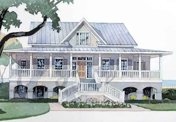 Georgia river house cowart group coastal living house for Beach house plans southern living