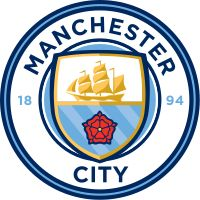 This logo is for the soccer team Manchester City which is located in Manchester, England. They are one of the two main teams in their city, along with Manchester United. They recently defeated Man United and their star players consist of Sergio Aguero, Vincent Kompany, Kevin De Bruyne, David Silva and Claudio Bravo.