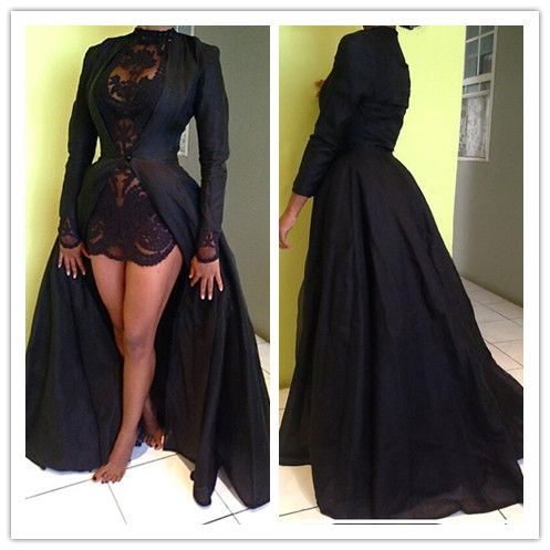New Arrival Sexy Prom Dress,Long Prom Dresses,Black Lace