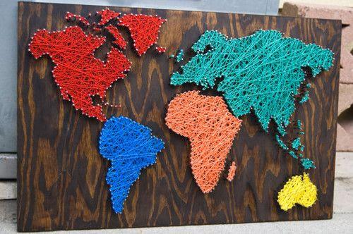 map aus farbigen-Fäden-Netz