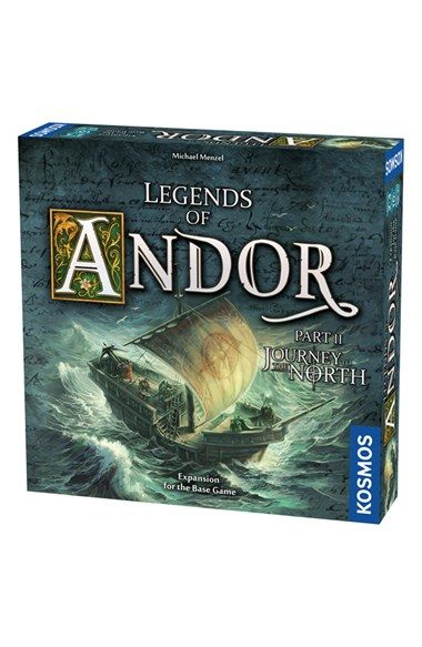 Free shipping and returns on Thames & Kosmos 'Legends of Andor - Journey' Game Expansion Pack at Nordstrom.com. After many years of living in peace, the heroes of Andor receive a new cry for help—this time from the distant land of Hadria. You immediately step aboard an old sailing vessel to embark on a perilous journey to the north. After you have properly equipped your ship, you discover strange islands and must work together to protect their coasts from terrible sea monsters. Soon…