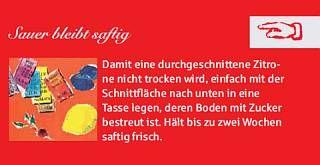 #Haushaltstipp der Woche... #Sauer bleibt #saftig... !!