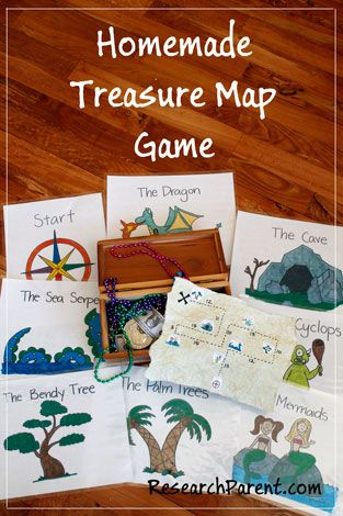 Homemade Treasure Map Game - Free, Downloadable Supplies for a Fun Game that Helps Teach Number Recognition and Counting - ResearchParent.com