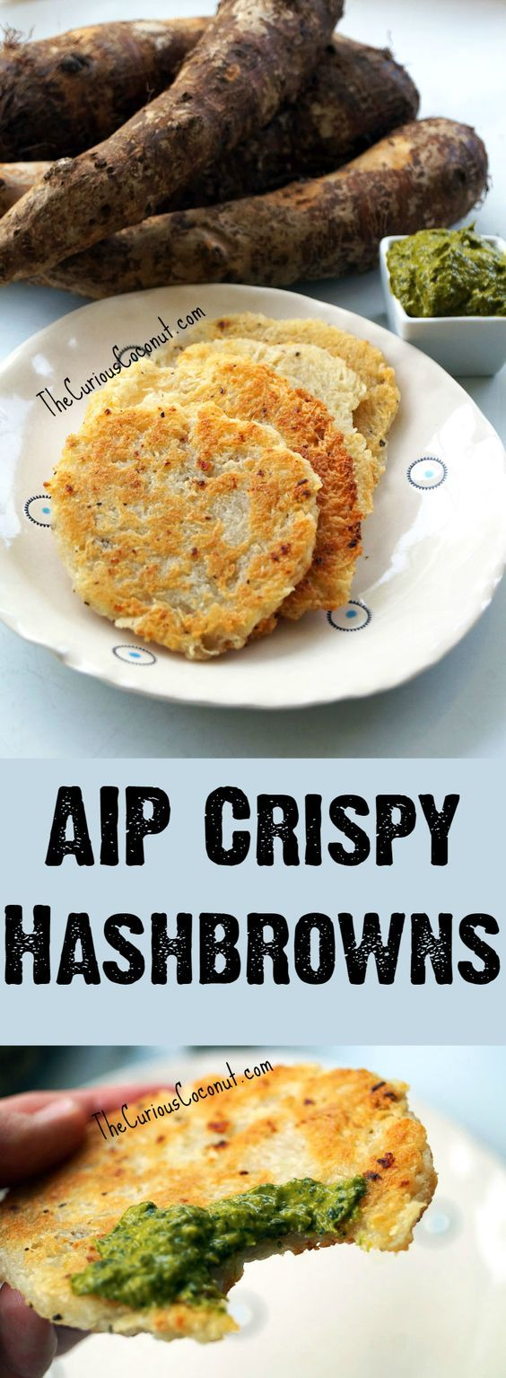 AIP Crispy Hashbrowns - no potatoes, no problem! Easy, allergy-friendly, gluten-free, Paleo, super delicious!