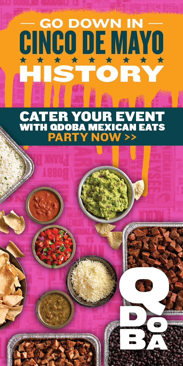 This year, celebrate with a flavor filled feast from Qdoba Mexican Eats. Take your pick between a burrito, taco, or nacho bar complete with all your favorite sides. It's not party science.