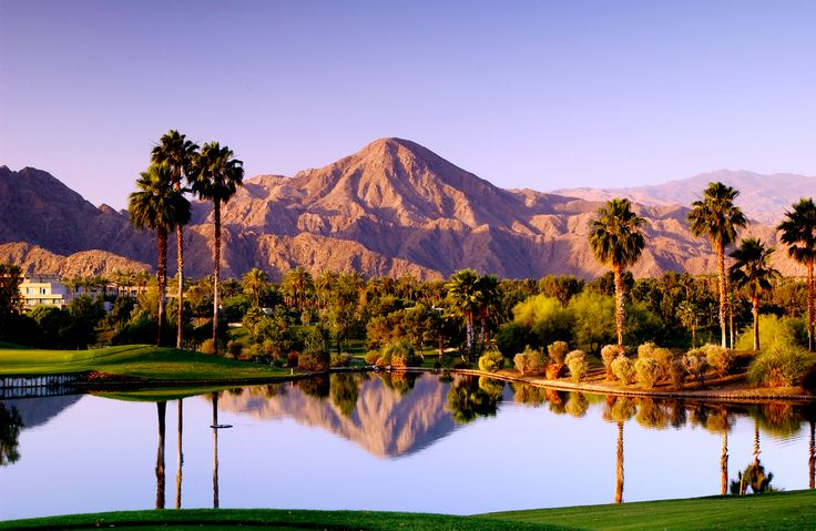 Scenic reflection in Palm Springs, California. Photo