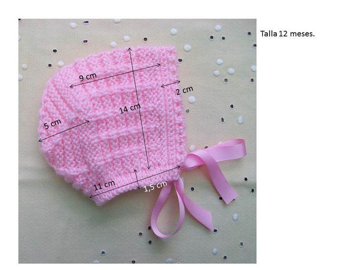 GORRITO ROSA DE LANA PARA 12 MESES LO QUIERO Material Lana color rosa especial bebés Agujas de punto del nº 4 Ganchillo del nº 1,5 0,...