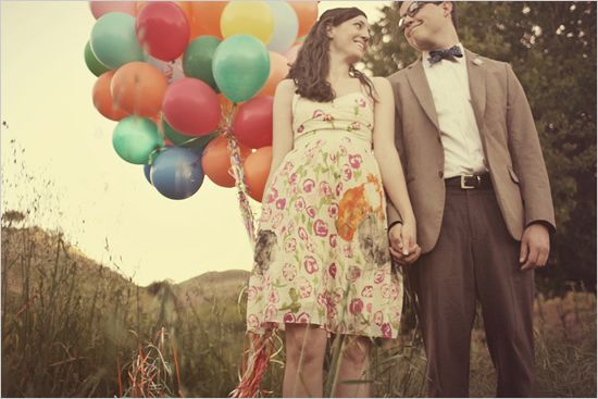 An UP inspired wedding photo shoot. Can someone pinch me because I think I just died of cuteness overload.