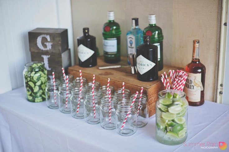 Our little Gin bar! A guest favourite! It helps if most of your friends drink gin though. . .