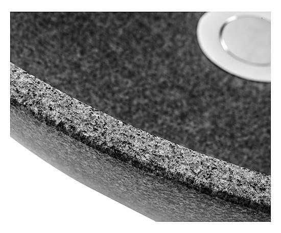 CIPI' BAGBO_ Lavabo in granito grigio Gray - h 14 cm/d 42 cm