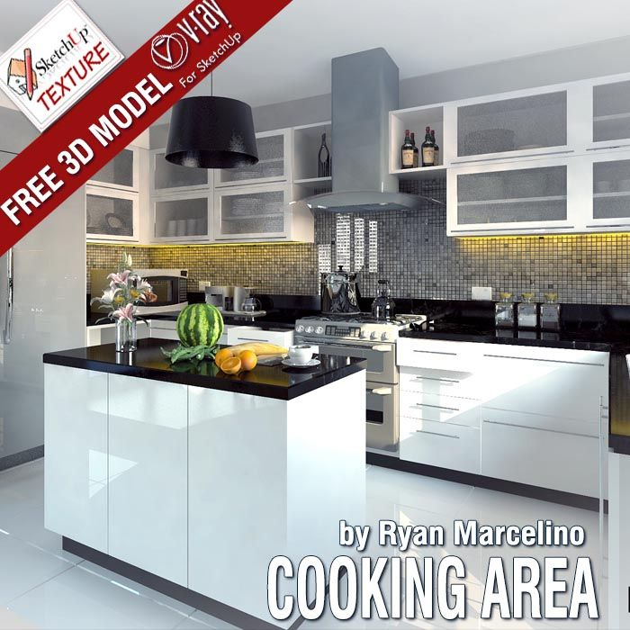 Modern Kitchen 3d Model 243 best free sketchup 3d models images on pinterest | model house