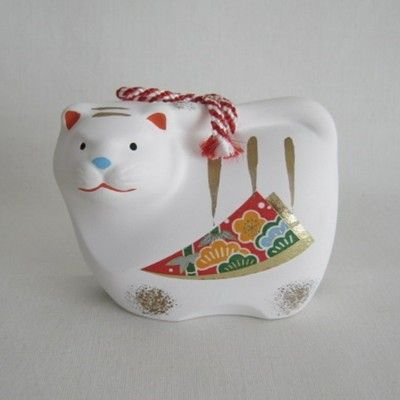 Tiger Clay Bell, Japanese Folk Craft | Kyoto Traditions