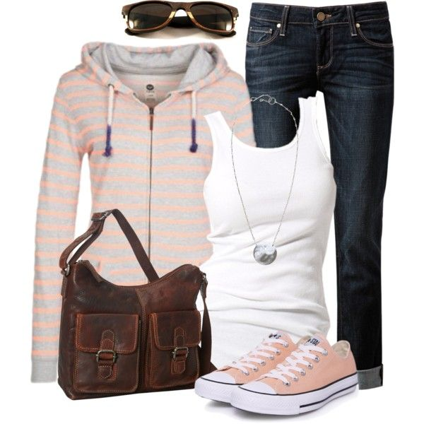 Boyfriend Jeans & Striped Top, created by wishlist123 on Polyvore