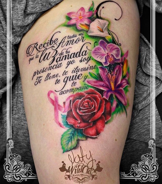 Diseñado y tatuado por nuestros tatuadores / Designed and tattooed for our tattoo artists Wildcat tattoo studio  Horario de atención: Lunes a sábado 10:00 AM - 7:00 PM  Calle 52 # 46 - 22 C.C Paseo de la playa, LOCAL 116  Separe ya su cita!  ✅ Whatsapp (+57) 301-285-4844 Medellín, Colombia  #Type #Flowers #love #colors #tattoo #art #tattoo artist