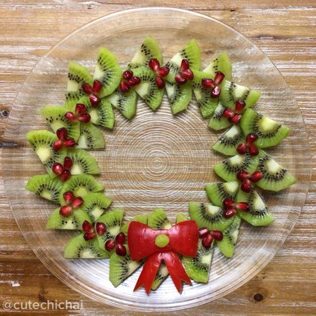 Kiwi Christmas - presentazione ghirlanda di kiwi