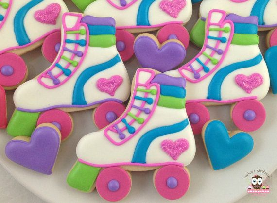 Roller Skate Cookies by Whoosbakery on Etsy