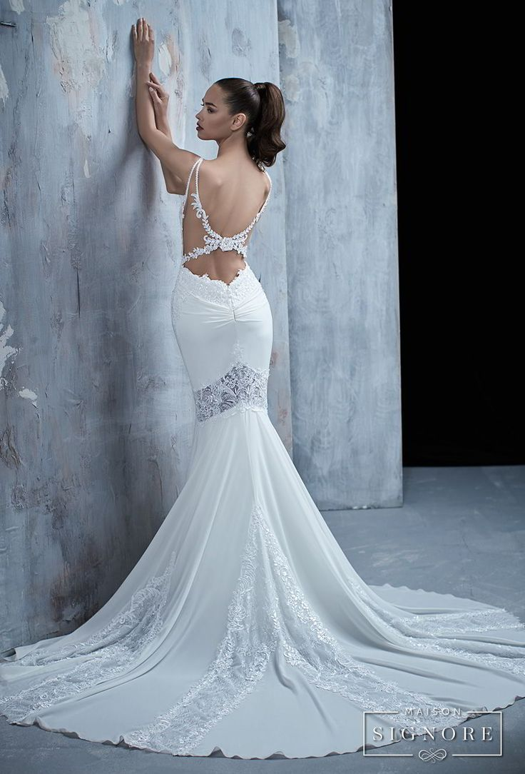 3892 best Backless Wedding Gowns images on Pinterest | Wedding ...